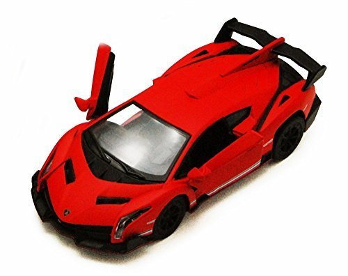 (Kinsmart Lamborghini Veneno, Red 5370D - 1/36 scale Diecast Model Toy Car, but NO BOX)