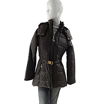 Baby Phat Women's Winter Coat Jacket, Chocolate, Small