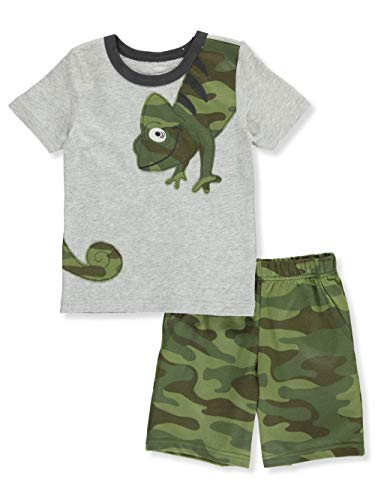 Carter's Baby Boys' 2 Pc Playwear Sets 249g396 (3T, Heather/Green/Camo)