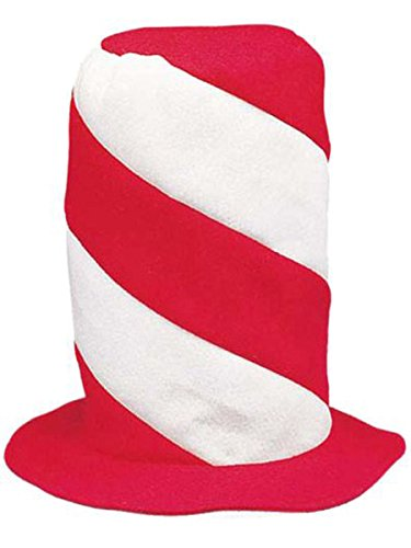 [Peppermint Swirl Stovepipe Hat - Hats & Party Hats by Fun Express] (Peppermint Costumes)