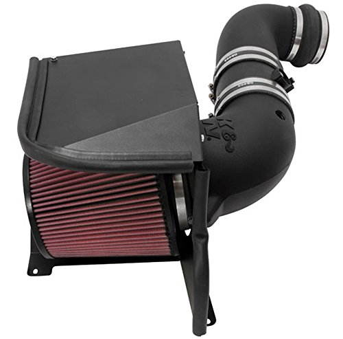 K&N Performance Air Intake Kit 57-3077 with Lifetime Red Oiled Filter for 2011-2014 Chevrolet Silverado 2500 HD/3500 HD, GMC Sierra 6.6L Duramax V8 Diesel