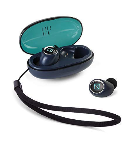 Kew Labs Truly Wireless Earbuds with Charging Case – Bluetooth 5.0 Headphones W Stereo Sound, Extra Bass, Sweatproof and Built in Mic – 40m Range, Fast Auto Paring, 6h Long Battery Life