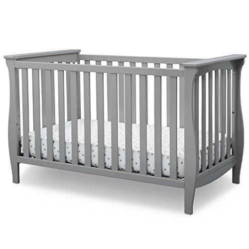 (Delta Children Lancaster 3-in-1 Convertible Baby Crib, Grey)
