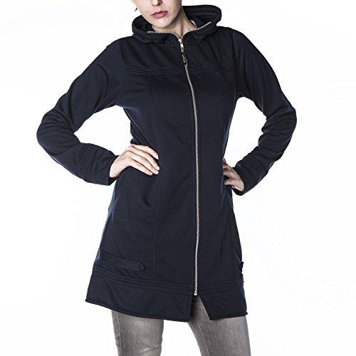 Manches Longues Femme Noir Blouson Trapèze Large Bleu Moshiki vq1TzpWBz