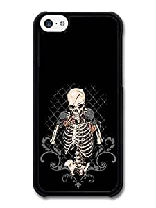 MMZ DIY PHONE CASECool Skeleton Skull Street Fighting Black Background Style Illustration case for ipod touch 5