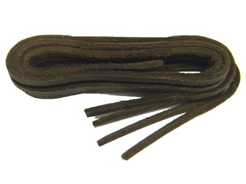 BROWN Leather Replacement Shoelaces for Boat Shoes - 2 Pair Pack (40) Brown Leather Boat