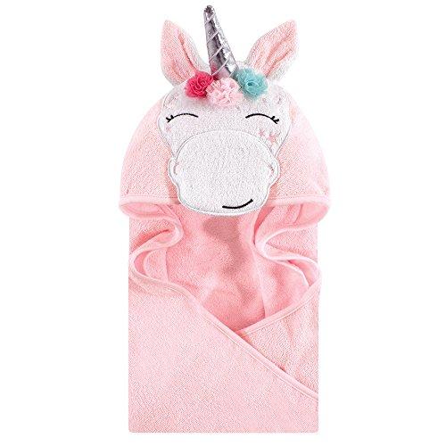 (Hudson Baby Unisex Baby Animal Face Hooded Towel, Whimsical Unicorn 1-Pack, One Size)