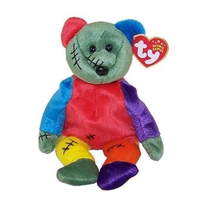 d6b30e4d302 Amazon.com  TY Beanie Baby - FRANKENTEDDY Bear (Green   Purple Feet ...