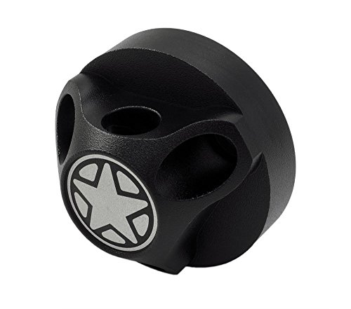 (VMS RACING Antenna HOUSING BASE COVER in BLACK Billet Aluminum Compatible with Jeep Wrangler JK Sahara Sport Rubicon Unlimited Freedom Fifty 07-19)