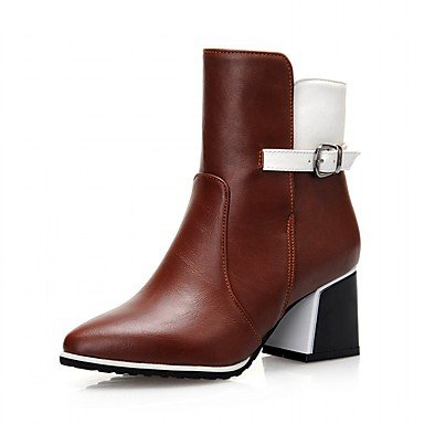 RTRY Women'S Boots Spring Fall Winter Platform Comfort Novelty Patent Leather Leatherette Wedding Office &Amp; Career Dress Casual Party &Amp; Evening US6 / EU36 / UK4 / CN36 u6pZQ05c8O