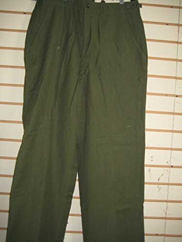 Military Field Trousers, 100% Wool - Olive Drab - Army Issue (Small Regular)