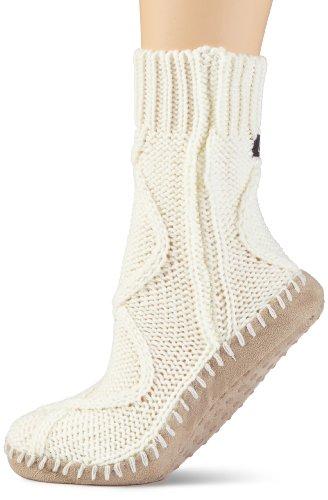 ELBEO Damen Socken 933345 / Hüttenschuh, Gr. 38/39, Weiß (wollweiß 9414)