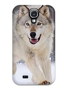 DPatrick Premium Protective Hard Case For Galaxy S4- Nice Design - Gray Wolf Minnesota