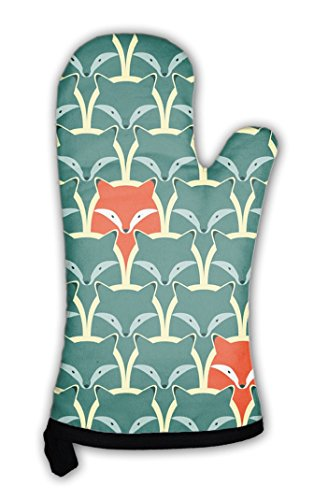 Gear New Oven Mitt, Pattern With Fox And Wolf, GN818578 by Gear New