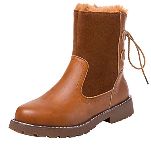 Women's Round Toe Lace Up Combat Mid Calf Combat Boots Boots 2019 Fashion, Fire And Safety Shoes | Ankle Winter Stretcher Rain Original Wool Hiking Waterproof Clarks Desert (Brown 38)