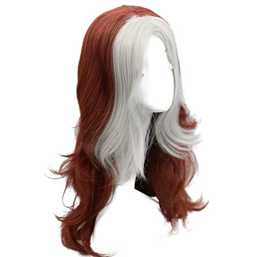 (Rogue Long Curly Cosplay Brown Wig Movie Anime Hair Costume Accessories Girls Halloween)
