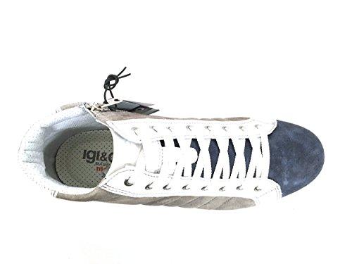 7726 BLU/GRIGIO Scarpa uomo sneaker Igi&co pelle made in Italy