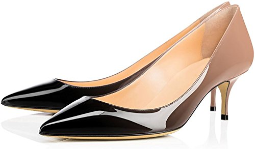 Femme 6 Talon Hauteur Aiguille Edefs Bureau 5 Beigenoir Cm Moyen Chaussure Escarpins OwHxqwCd