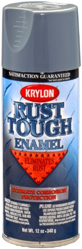 Krylon K09206007 'Rust Tough' Battleship Gray Rust Preventive Enamel - 12 oz. Aerosol