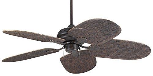 "52"" Casa Vieja Outdoor Tropical Veranda Bronze Ceiling Fan"