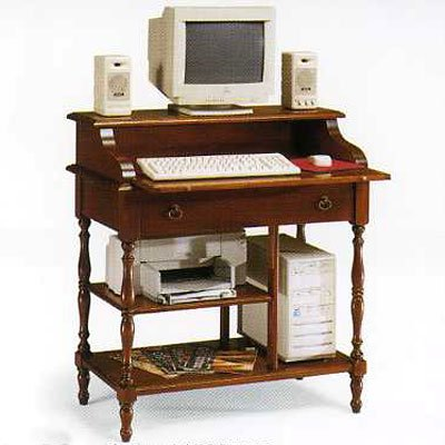 Schreibtisch Nußbaum Und Tanganyika Holz Cm 88x55 H 95