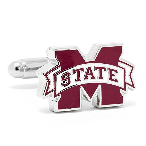 Mississippi State Bulldogs Cufflinks Novelty 1 x 1in ()