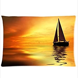 diy phone caseBeautiful Scenery:Sailing Boat In The Sunset,Sailing Boat Pillowcase,New Pillow Case Pillow Inner Included 20x30(One side)diy phone case