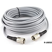CablesOnline 50ft RG-8/U Mini Coax UHF PL-259 Male/Male Grey Antenna Cable, (R-U8050)