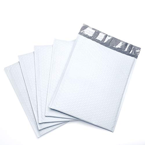Fu Global #2 8.5x12 Inches Poly Bubble Mailers Padded Envelopes Pack of 25 (white)