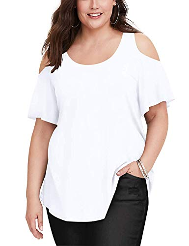 Plus Size Dress Up - Womens Plus Size Solid Color Tee