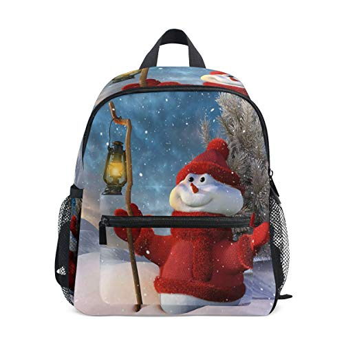 - imobaby Christmas Smiling Snowman With Lamp Unisex Outdoor Daypacks Bags 2th 3th 4th Grade School Backpack for Kids Boys Girls