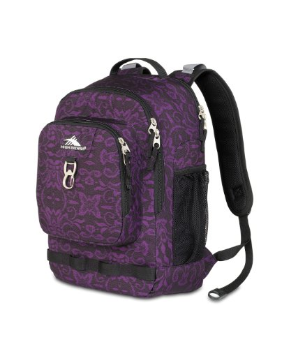 High Sierra 2074 Cubic-Inches Brewster Daypack (Plum Lace), Outdoor Stuffs