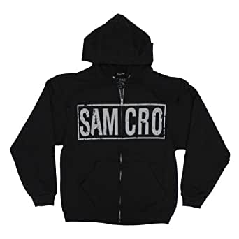 Sons Of Anarchy Samcro Boxed Reaper SOA Officially Licensed Adult Zip UP Hoodie XL
