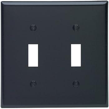 leviton 80709e 2gang toggle device switch wallplate standard size