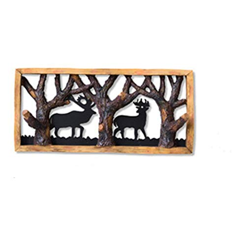 ZhihuaHd European Wall Wall Decoration Pendant Wall bar Creative Bedroom Wall Hanging Wall Decoration Indoor Home Decoration Iron Silhouette Animal Resin Hook Fine Jewelry Decorations ()