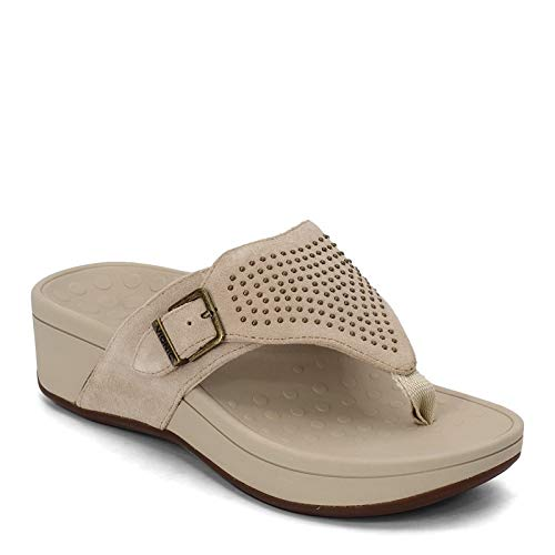 Vionic Women's, Capitola Thong Taupe 8 M