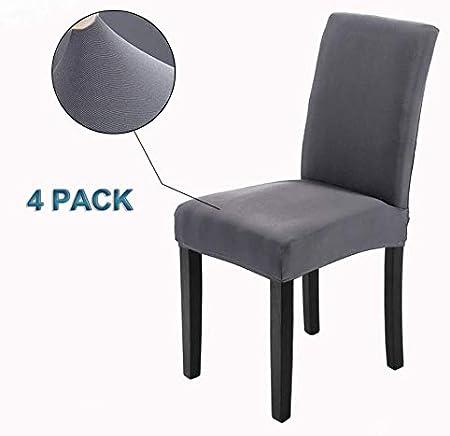 Veakii R Fundas para sillas Pack de 4 Fundas sillas Comedor ...