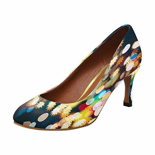 Classic Dress InterestPrint Heel Fashion Christmas High Abstract Light Pump Womens CXqwXr15