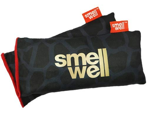 SmellWell XL | Heavy Duty Shoe Deodorizer & Natural Odor Absorber | Natural Moso Bamboo Charcoal Air Purifying Bag | Moisture & Odor Eliminator for Shoes, Gear, Bags & Lockers | 125g | 2 Pack