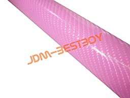 Free Tool Kit EZAUTOWRAP 4D Pink Carbon Fiber Car Vinyl Wrap Sticker Decal with Bubble Free - 60\