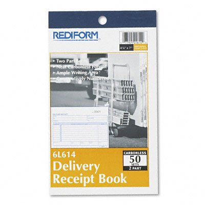 Delivery Receipt Book, 50 Sets/Book [Set of 2] by Rediform