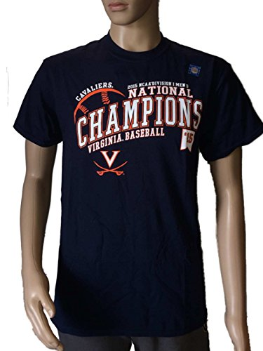 Tee College Series World - Blue 84 Virginia Cavaliers 2015 CWS College World Series National Champs T-Shirt (L)