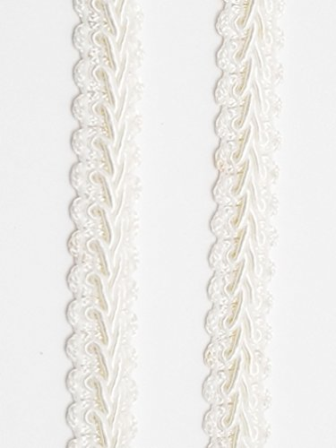 5 Yards light ivory antique white Embellishment Rope Braid Loop Trim Applique 6 mm .475 in
