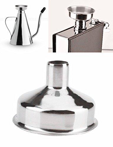 Alohha acier inoxydable Mini Entonnoir pour bouteilles dhuiles essentielles flacons Lot de 6