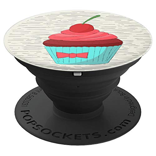 Chocolate Cupcake With A Cherry On Top - PopSockets Grip and Stand for Phones and Tablets
