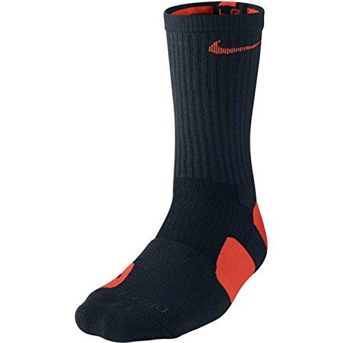 Nike Elite Basketball Crew Socks (Small, Black/Turf Orange/Turf - Socks Nike Black Orange