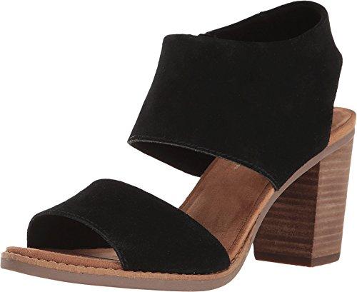 TOMS Women's Majorca Cutout Sandal Black Suede 5 B US (Tom Discount Code)