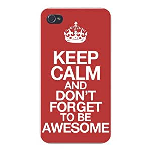 Apple Iphone Custom Case 5 5s Snap on - Keep Calm and Don't Forget to Be Awesome by icecream design