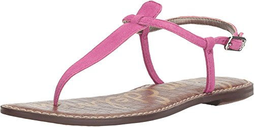 Sam Edelman Women's Gigi Hot Pink 2 Kid Suede Leather Sandal