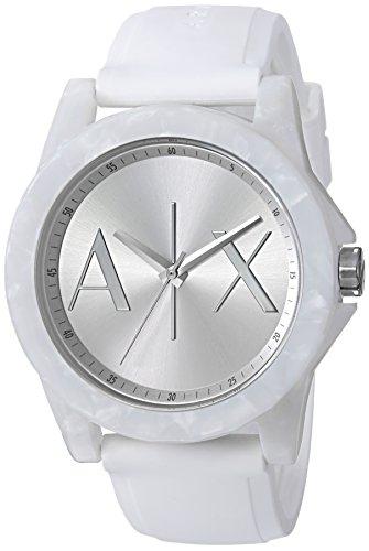 Armani Exchange Women's White Silicone Watch (Armani Exchange Ladies Watches)